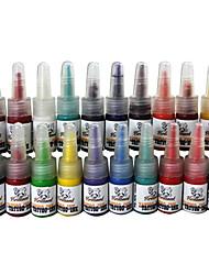 Χαμηλού Κόστους -20 χρώμα τατουάζ μελάνια τατουάζ που 20 * 5 ml