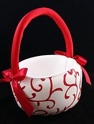 economico -cerimonia nuziale di nozze del cestino della ragazza del fiore della vigna e del fiore rosso bello di nozze