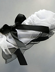 cheap -Organza Satin Classic Wedding Garter with Bowknot Garters