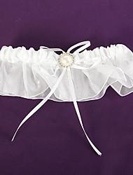 economico -giarrettiera in organza di raso con strass matrimonio accessori stile elegante ed elegante