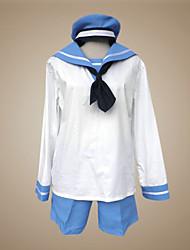 baratos -Inspirado por Hetalia Sealand Anime Fantasias de Cosplay Ternos de Cosplay / Uniformes Escolares Retalhos Manga Longa Peitilho / Blusa / Calças Para Homens Trajes da Noite das Bruxas