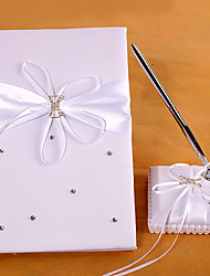 cheap -Guest Book Pen Set Satin Garden ThemeWithRibbons Sash Rhinestones