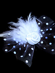 Women's Flower Girl's Feather Tulle Headpiece-Wedding Special Occasion Fascinators Flowers