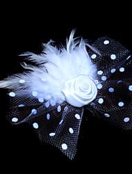 Mulheres Menina das Flores Penas Tule Capacete-Casamento Ocasião Especial Fascinador Flores