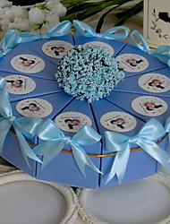 Pyramid Card Paper Favor Holder With Ribbons Favor Boxes-10 Wedding Favors