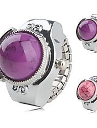 abordables -analógica de las mujeres de aleación anillo de reloj (de plata)
