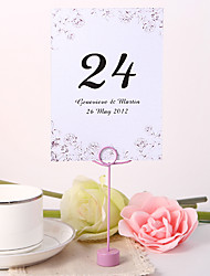 cheap -Personalized Table Number Card - Flower Design