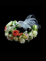 flores de seda headpiece festa de casamento elegante estilo feminino clássico