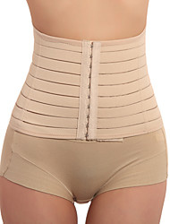 cheap -Women's Hook & Eye Waist Cincher Underbust Corset-Solid