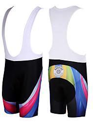 Kooplus Cykelshorts (bib) Herre Cykel Shorts med seler Shorts Underdele Cykeltøj Hurtigtørrende Åndbart Patchwork Cykling / Cykel