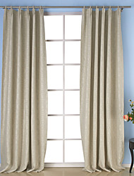 Two Panels Curtain Neoclassical , Solid Dining Room Polyester Material Curtains Drapes Home Decoration For Window