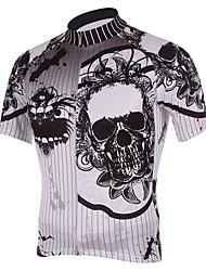 Недорогие -Kooplus Муж. С короткими рукавами Велокофты Черепа Велоспорт Джерси, Быстровысыхающий, Дышащий