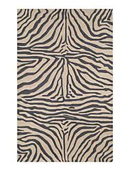 baratos -tapete em forma de gancho acrílico com padrão de riscas 5 '* 8'