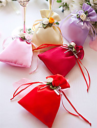 cheap -Creative Satin Favor Holder with Flower Favor Bags - 12