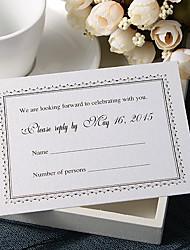 """baratos -Personalizado Cartão Raso Convites de casamento Cartões de resposta-50 Peça/Conjunto Estilo Formal Papel Pérola 3 ½"""" x 5"""""""