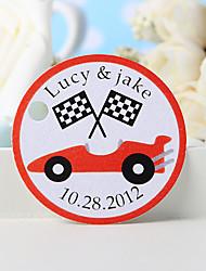 baratos -etiqueta de favor personalizada - carro vermelho (conjunto de 36) favores de casamento lindos