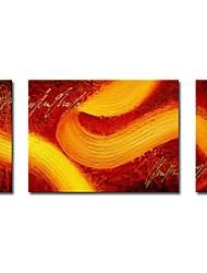 povoljno -Ručno oslikana Sažetak Vodoravna panoramska Platno Hang oslikana uljanim bojama Početna Dekoracija Tri plohe