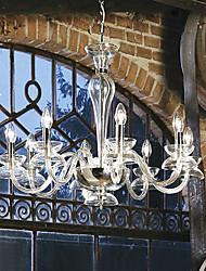 Недорогие -Современная, хрустальная люстра в форме свечи, с восьмью лампами