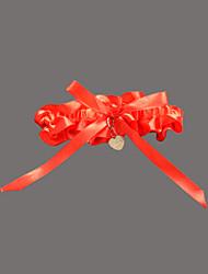 jarretière de mariage en satin de polyester avec des accessoires de mariage chérie élégant styleclassique