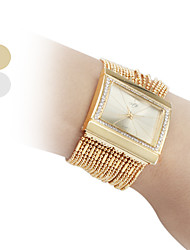 cheap -Women's Fashionable Diamond Alloy Style Analog Quartz Bracelet Wrist Watch (Gold) Cool Watches Unique Watches