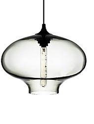 cheap -40W Modern Glass Pendant Light in Black Bubble Design