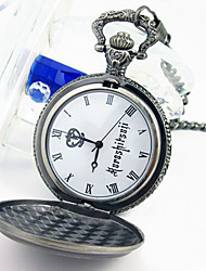 Clock/Watch Inspired by Black Butler Ciel Phantomhive Anime Cosplay Accessories Clock/Watch Silver Alloy Male