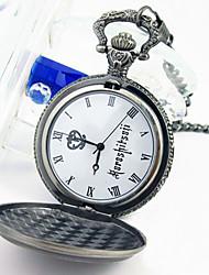 Недорогие -Часы Вдохновлен Тёмный дворецкий Ciel Phantomhive Аниме Косплэй аксессуары Часы Сплав Муж. новый