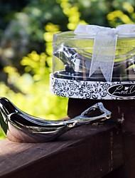 """l'amore colomba"" chrome apribottiglie in elegante scatola regalo ovale vetrina"