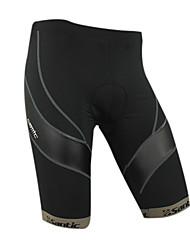 baratos -ciclismo santic-homens materiais Coolmax 1/2 calças (cinza)