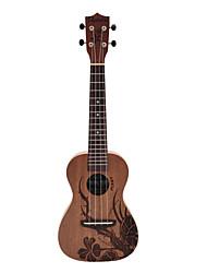 Недорогие -Rainie - (Ф-01) высокого великого твердых гавайская гитара концерт красного дерева с концерта мешок / тюнер (завод татуировки)