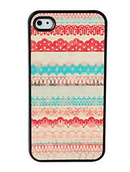 abordables -Carcasa de Patrones Orgánicos Coloridos Para iPhone 4 / 4S - Multicolor