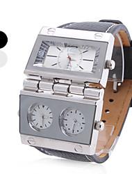Недорогие -Мужские аналоговые кварцевые часы (3 часовых пояса, разные цвета)
