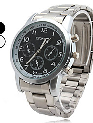 Men's Business Style Silver Alloy Quartz Wrist Watch (Assorted Colors) Cool Watch Unique Watch