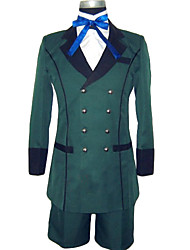 cheap -Inspired by Black Butler Ciel Phantomhive Anime Cosplay Costumes Cosplay Suits Solid Colored Long Sleeves Cravat Coat Shirt Shorts For
