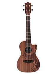 Недорогие -Rainie - (TCO-01) высокого великого твердых акации коа тенор укулеле с концерта мешок / тюнер (океан татуировки)