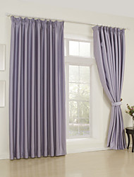 Two Panels Curtain Modern , Solid Bedroom 65% Rayon/35%Polyester Rayon Material Curtains Drapes Home Decoration For Window