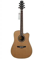"""Недорогие -Ястребы 41 """"продвинутых разрезе твердого красного кедра топлес розетка клен обязательным D'Addario строка акустической гитары"""