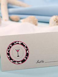 sted kort - runde leopard (sæt af 12) placecard indehavere bryllup reception