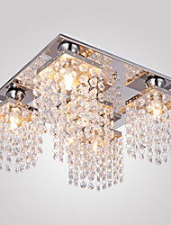 cheap -Modern/Contemporary Crystal Flush Mount Ambient Light For Living Room Bedroom Hallway 110-120V 220-240V 110-120V 220-240V Bulb Included