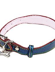 Hunde Halsbänder Grün / Blau PU Leder