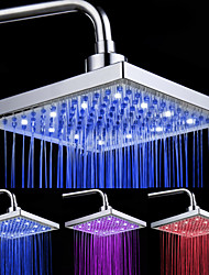 cheap -8-inch 12-LED Square Ceiling Shower Head (Assorted Colors)