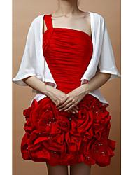 Wraps casamento Casacos / Jaquetas Sem Mangas Chifon Branco Festa Aberto à Frente