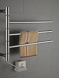 cheap -40W Swing Arm Stainless Steel Circular Tube Towel Warmmer Drying Rack