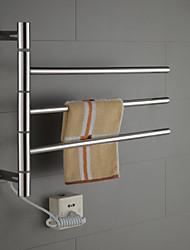 baratos -40w braço oscilante em aço inoxidável circular warmmer toalha tubo de secagem cremalheira