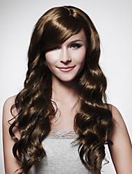 senza tappo lungo marrone capelli ricci parrucca 15 colori tra cui scegliere