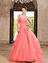 A-Line Strapless Sweetheart Floor Length Tulle Prom Dress by TS Couture®