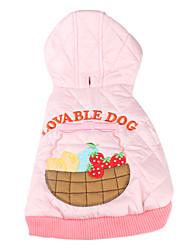 Cani Felpe con cappuccio Rosa Abbigliamento per cani Inverno Primavera/Autunno Cartoni animati Divertente