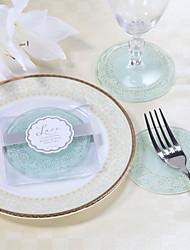 udsøgt blonder og matterede glas coastere (sæt med 2)