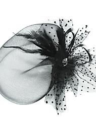 Недорогие -тюль перо птица клетка головной убор классический женский стиль