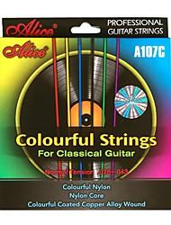 billige -Alice - (A107C) klassisk guitar Farverige Strings (028-043)